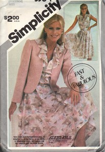Simplicity 5364 Dress Jacket Pattern Vintage UNCUT