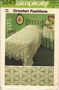 Simplicity 5543 Crochet Bedspread Tablecloth Pattern