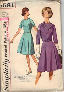 Simplicity 5581 Vintage Dress Pattern UNCUT