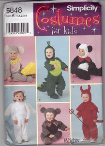 Simplicity 5848 Toddler Costume Sewing Pattern UNCUT