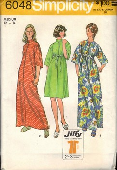 Simplicity 6048 Size Medium Vintage Jiffy Robe Pattern UNCUT