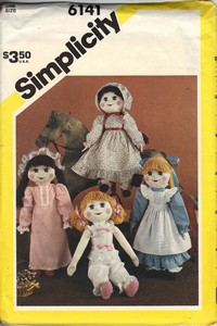 Simplicity 6141 Soft Doll Clothes Pattern UNCUT