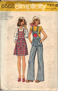 Simplicity 6568 Jumper Overall Pattern UNCUT