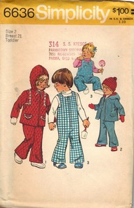 Simplicity 6636 Toddler Overall Jacket Pattern UNCUT