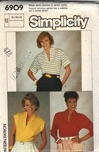 Simplicity 6909 Knit Top Pattern UNCUT