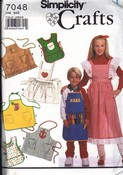 Simplicity 7048 Girl Child Apron Pattern Uncut