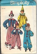 Simplicity 5740 Clown Costume Pattern Child UNCUT