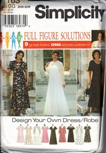 Simplicity 7163 Plus Size Dress Pattern UNCUT