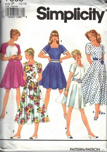 Simplicity 7863 Dress Full Skirt Pattern UNCUT