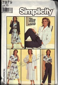 Simplicity 7879 Career Wardrobe Pattern UNCUT