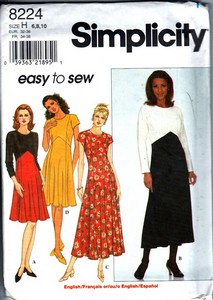 Simplicity 7224 Size H Easy Sew Dress UNCUT