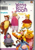 Simplicity 9378 Winnie The Pooh Costume Pattern Size A Uncut