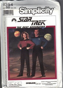 Simplicity 9394 BB Star Trek TNG Men's Uniform Pattern UNCUT