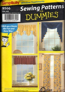 Simplicity 9566 Dummies Window Treatment Pattern UNCUT