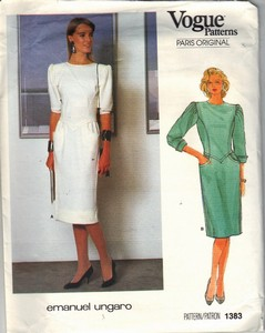 Vogue 1383 Emanuel Ungaro Elegant Dress Pattern UNCUT