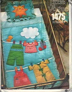 Vogue 1475 Crib Quilt Sham UNCUT