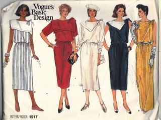 Vogue 1517 Basic Design Sheath Dress Pattern UNCUT Size 12