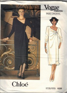 Vogue 1539 Chloe Dress Pattern Uncut Size 12