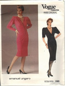 Vogue 1585 Emanuel Ungaro Dress Pattern UNCUT