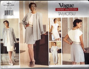 Vogue 1601 Tamotsu Wardrobe Pattern Medium UNCUT
