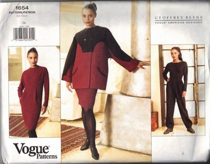 Vogue 1654 Beene Separates Pattern Size 16 UNCUT