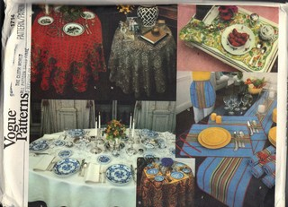 Vogue 1714 Table Linens Pattern UNCUT