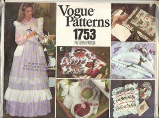 Vogue 1753 Apron Gift Items Pattern UNCUT