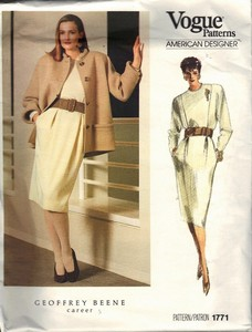 Vogue 1771 Beene Dress Jacket Sewing Pattern Size 12 uncut