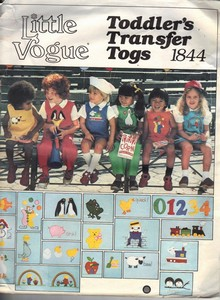 Vogue 1844 Toddler Transfer Togs Pattern UNCUT