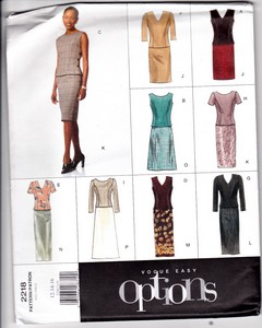Vogue 2218 Easy Options Top Skirt Pattern Uncut