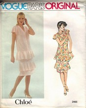 Vogue 2465 Chole Designer Dress Pattern UNCUT