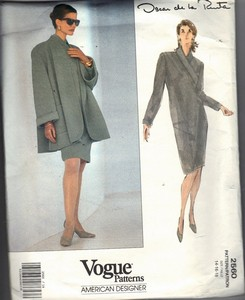 Vogue 2560 Oscar de La Renta Jacket Dress Pattern UNCUT