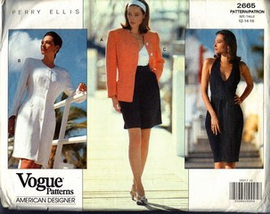 Vogue 2665 Perry Ellis 12-14-16 Wardrobe Pattern UNCUT