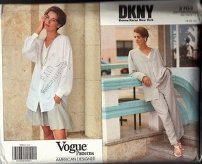 Vogue 2703 DKNY Jacket Shirt Shorts Pants Pattern UNCUT 18-20-22