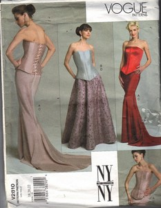 Vogue 2810 XL Strapless Top Long Skirt Pattern UNCUT