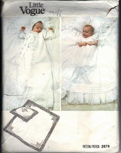 Vogue 2878 Infant Christening Outift Pattern UNCUT