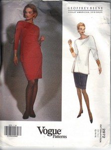 Vogue 2972 Geoffrey Beene Top Skirt Pattern UNCUT