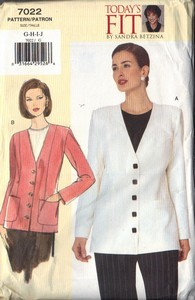 Vogue 7022 Today's Fit Jacket Pattern UNCUT