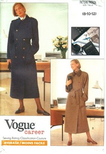 Vogue 7625 Trenchcoat Pattern UNCUT