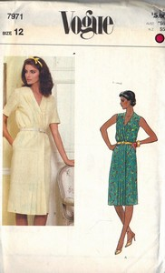 Vogue 7935 Pullover Shift Sewing Pattern UNCUT