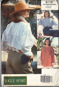 Vogue 8118 Roomy Shirt Pattern 14-16-18 UNCUT