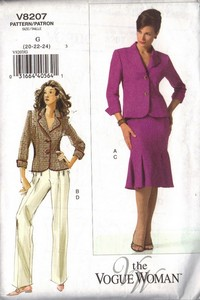 Vogue 8207 Plus Suit Pattern UNCUT