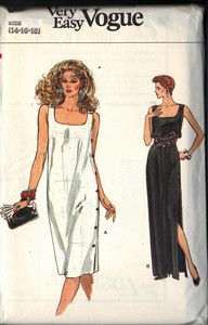 Vogue 8668 Sheath Summer Dress Pattern UNCUT 14-16-18