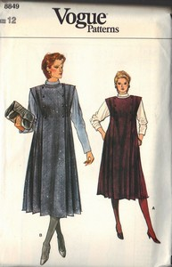 Vogue 8849 Top and Jumper Pattern Size 12 UNCUT