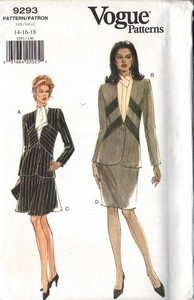 Vogue 9293 Suit Sewing Pattern Large Size