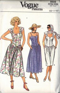 Vogue 9333 Sundress Sewing Pattern UNCUT