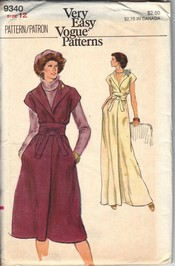 Vogue 9340 Dress Sewing Pattern UNCUT