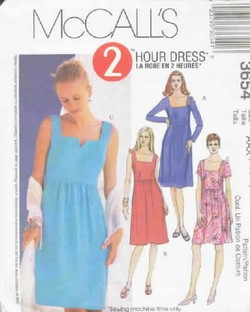 McCalls 3654 Elegant Dress Sewing Pattern UNCUT