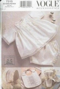Vogue 7515 Pattern Smocked Heirloom Baby Clothes Pattern
