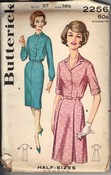 Butterick 2256 Vintage Shirt Dress Pattern UNCUT
